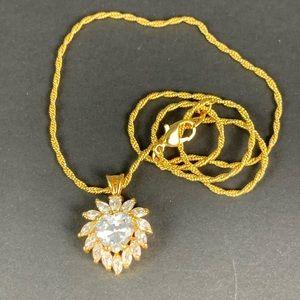 Elizabeth Taylor Avon Radiance Heart  CZ Necklace